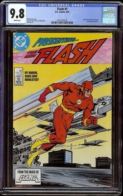 Flash # 1 CGC 9.6 White (DC, 1987) 1st issue in series