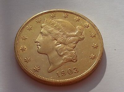 20 Dollars $ USA Liberty Head Gold 1903