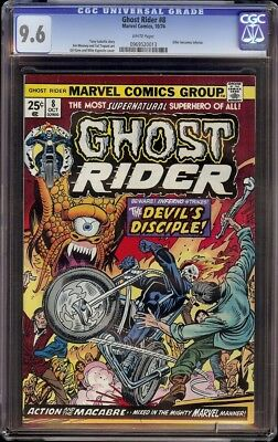 Ghost Rider # 8 CGC 9.6 White (Marvel, 1974) Kane and Esposito cover