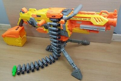 Nerf Havok Fire EBF - 25 complete with tripod, bullet belt and ammo holder.