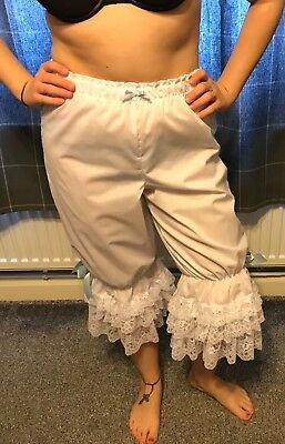 Ladies white cotton can-can  bloomers
