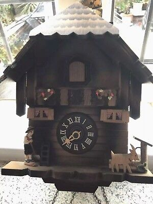 SWISS CUCKOO CLOCK  With Chimney Sweep Bought In Switzerland