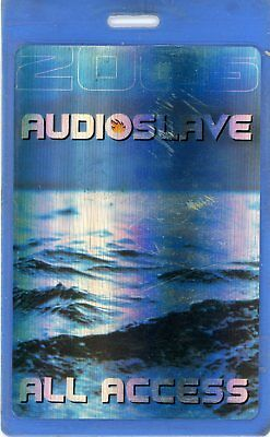Audioslave 2005 Out of Exile Laminate Backstage Pass All Access Used Blue