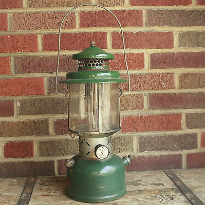 Vintage Coleman Lantern 1953 Camping Lamp Pyrex Barn Decor Outdoor Hiking U.S.A.