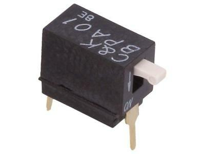 2x BPA01B Switch DIP-SWITCH Poles number1 OFF-ON 0.025A/24VDC 100MΩ