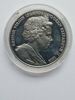2014  British Virgin Islands $10 Ww1 Laurence Of Arabia Silver Coin
