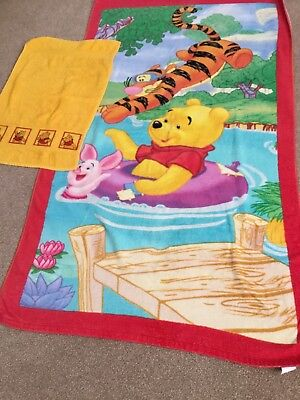 Winnie The Pooh Bath Towel And Small Towel