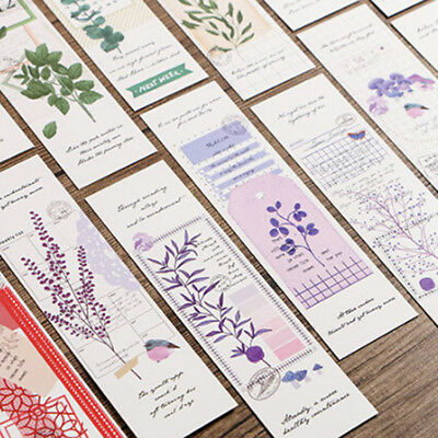 30pcs Vintage Flower Paper Bookmark Kawaii School Stationery Kids Gift New