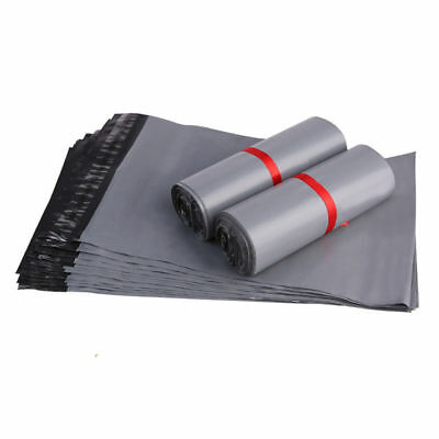 """50 BAGS 10"""" x 14"""" STRONG POLY MAILING POSTAGE POSTAL QUALITY SELF SEAL GREY"""