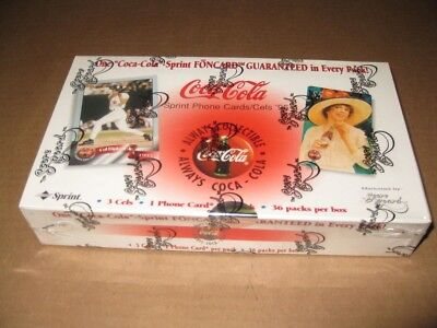 Coca Cola Coke 1996 Sprint Retail Phone Cards Box