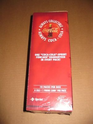 Coca Cola Coke 1996 Sprint Phone cards Box Hobby