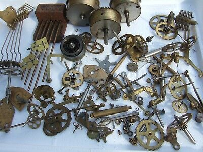 Large Selection Of Old Clock Parts Mantel Antique Clock Parts Vintage Clock Part