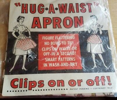 hug-a-waist apron Copyright 1962 perfect condition, in original packaging
