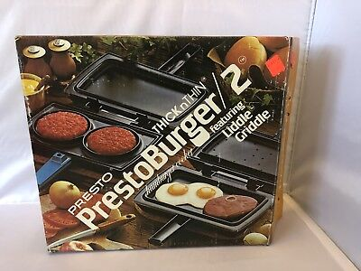 Vintage Presto PrestoBurger/2 Hamburger Cooker/Griddle