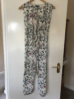 """Girls Pretty M&s Autograph  """"floral & Bird"""" Detailed Jumpsuit Age 10 - 11 Years"""