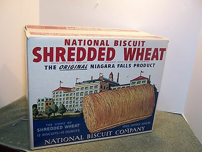 Antique Huge Display Shredded Wheat National Biscuit Company Advertising Box