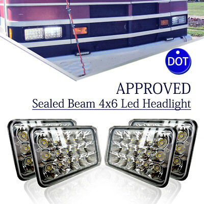 "4pcs DOT Approved 4x6"" LED Headlights Sealed for Chevy 1500 Pickup 1981-1987"