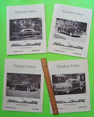 1987 ALL 4 ISSUES Timber Tales CHRYSLER TOWN & COUNTRY WOODIE CARS Club Mags