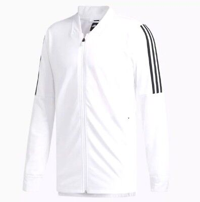 New Adidas Men's Essentials Id Bomber Track Jacket~ Size Small  #dh9063   White