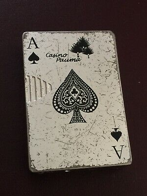 Card Deck Butane Metal Lighter Indian Casino Pauma California Gambling Ace Card