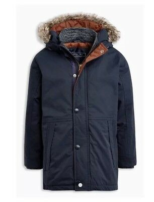 Boys Navy Blue Parka Winter Coat Age 1.5-2 Years/18-24 Months From Next BNWT £28