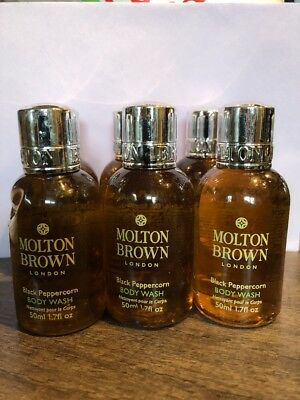 Molton Brown Black Peppercorn Body Wash 50ml X 6