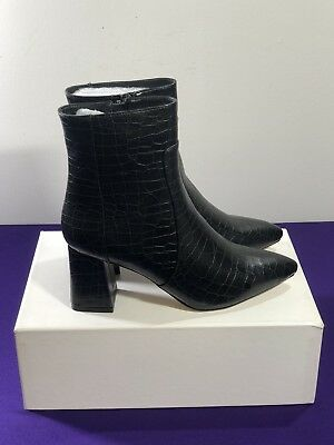 9dcf74d278 NASTY GAL CROC It Out Faux Leather Booties Womens Size UK 4 EU 37 US ...