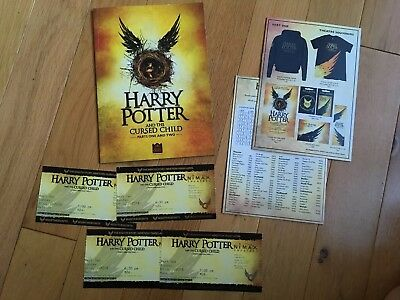 Harry Potter And The Cursed Child Theatre Programme Tickets Merchandise Leaflets