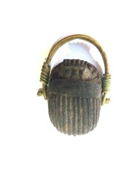 royal ring  ancient egyptian civilization topped with Scarab