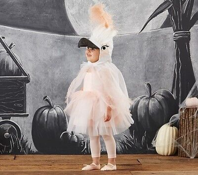 Pottery Barn Kids Cockatoo Costume TUTU Ages 7-8 Years Pink