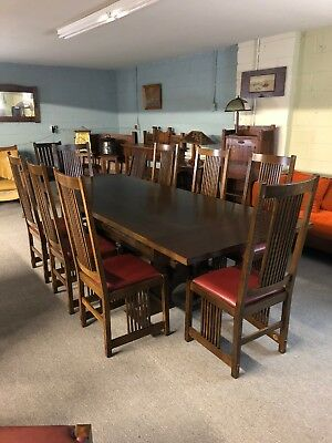 Stickley Dining Table And Eight Chair Mission Oak