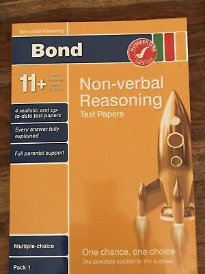 Bond 11+ Test Papers Non-Verbal Reasoning Multiple Choice Pack 1 by Andrew...