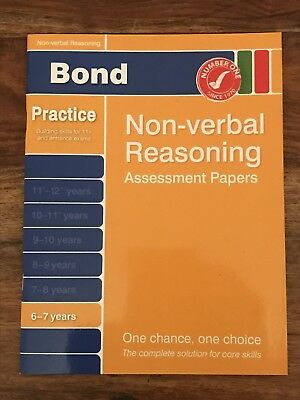Bond Starter Papers in Non-verbal Reasoning 6-7 Years by Alison Primrose...
