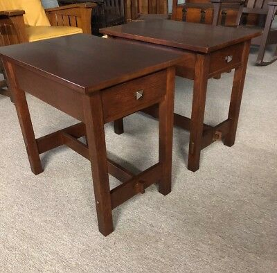 Pair Of Stickley End Tables Mission Oak
