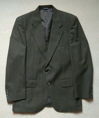 """Vintage Burberrys Suit. Grey Green Check. 100% Wool. Chest 42"""". W34"""" L31"""""""