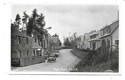 CAPUTH Postcard High Road Perthshire Early RP