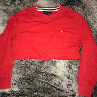 ✨EUC✨ Vintage Tommy Hilfiger Cropped Crewneck Sweater Red Ladies Small S