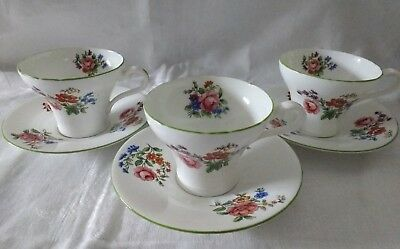 Aynsley Tea Set Aynsley Art Deco Cups & Saucers Rose Floral English China