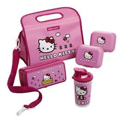 Tupperware Hello Kitty Pink Lunch Set Sub Sandwich Oyster Tumbler Ins. Bag New
