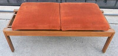 Vintage Mid Century Modern Expanding Bench 2 Or 3 Person