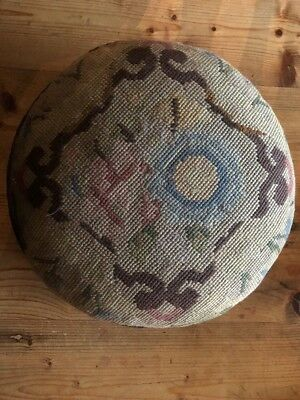 Vintage Cross-stitch Footstool