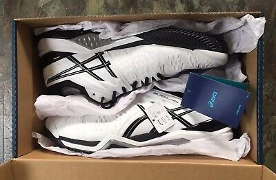 Asics Gel-Resolution 6 Trainers, White / Black, Uk 11 (Court / Clay Shoes), Bnib
