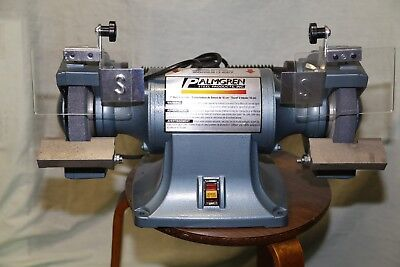 "Used Palmgren 7"" 1/2HP 115/230V bench grinder with dust collection"