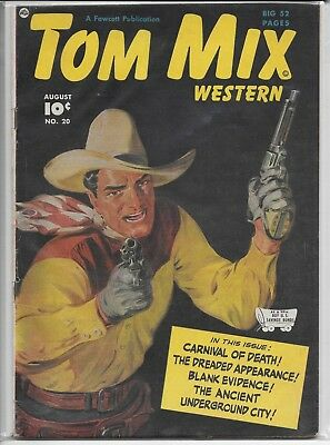 Tom Mix Western #20 Fawcett 1949 Vintage Comic 52 Pages Vg 4.0 1/2 Off Sale!