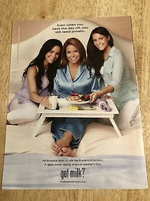 GOT MILK? - KATIE COURIC, ELLIE & CARRIE MONAHAN  - 2013  Full-Page Magazine Ad