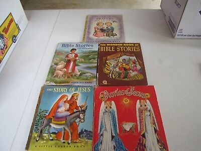 Vintage. Children's Religious Books  - Lot of 5. Use, decor, staging