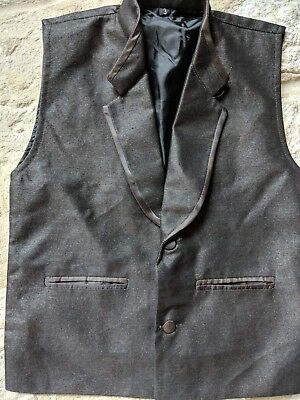 Brown Silk Shirt With Vest Size 3