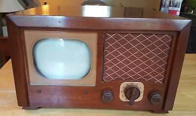 """Vintage Retro 1940's ADMIRAL Wood Cabinet Table Top 6"""" Tube TV Television Set"""