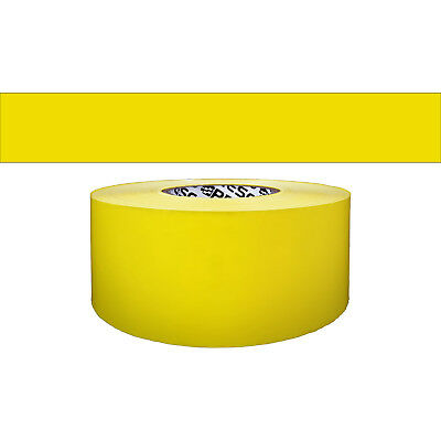 Presco Solids & Stripes Barricade Tape: 3 in. x 1000 ft. (Yellow)