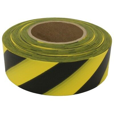 Presco Solids & Stripes Barricade Tape: 3 in. x 1000 ft. (Yellow/Black stripes)